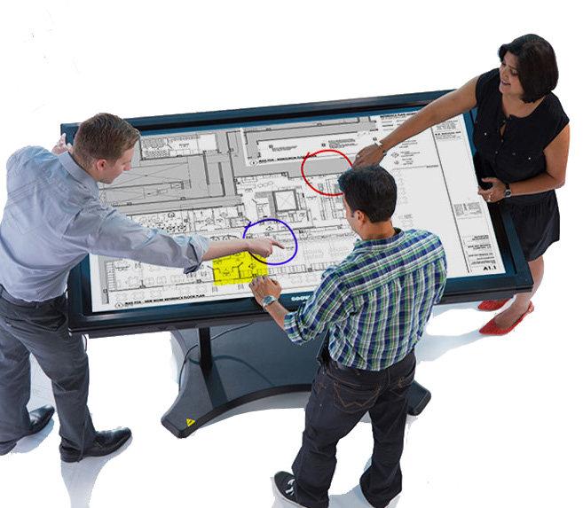 Ecran interactif en mode table à dessin